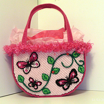 Pink Butterfly Handbag/Tote bag