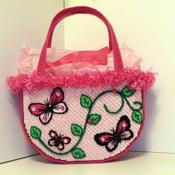 Pink Butterfly Handbag/Tote bag