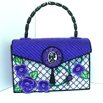 Purple and Black Handbag