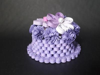 Purple Flower Basket -Tutorial