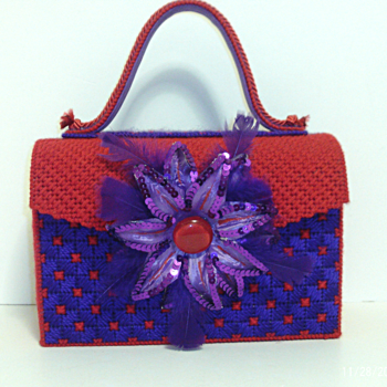 Red and Purple Handbag