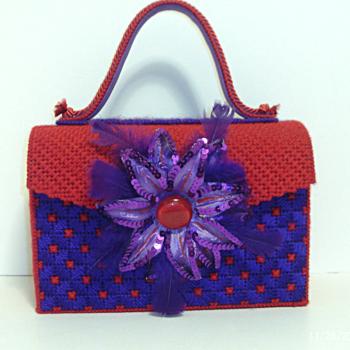 Red and Purple Handbag