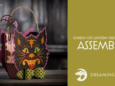 Scardy Cat Lantern Treat Basket SVG - Assembly Tutorial