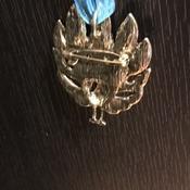 Silver Peacock Brooch Necklace
