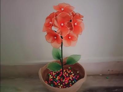 Stocking flower making videos.Stocking flower tutorial easy. stocking flower bouquet.