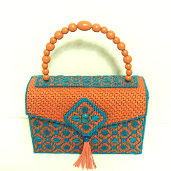 Terra-Cotta and Turquoise Handbag