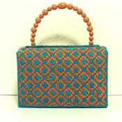 Terra-Cotta and Turquoise Handbag