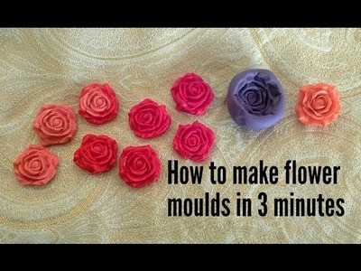 Tutorial of flower. leaves moulds for dough work & jewellery