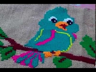 2 Beautiful Birds Ason Design- Asan Design- Hand Embroidary Cross Stitch Ason Design. .