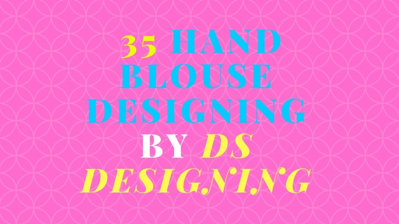 35 hand blouse designing by DS designing