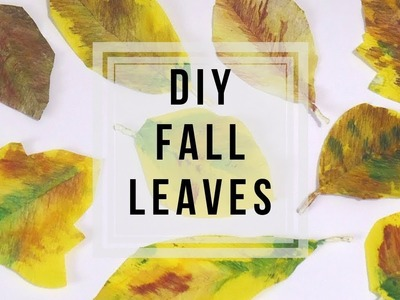 Autumn Leaves DIY ???? | How to Make Paper Leaves | Fall Decor Ideas | Fall Crafts by Fluffy Hedgehog
