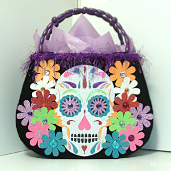Black Day of the Dead Tote bag