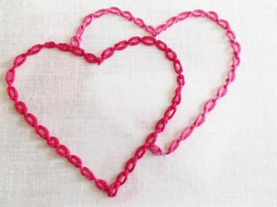 Cable Chain Stitch (Hand Embroidery Work)