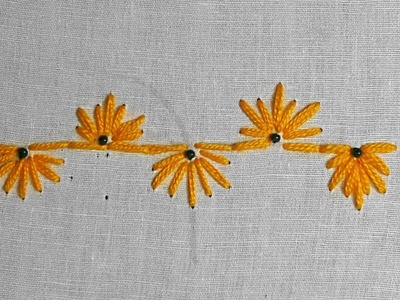 Decorative Stitches Hand Embroidery Part - 28   Border line Embroidery video tutorial