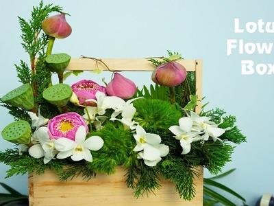 DIY Lotus Flower congratulation in box| Flower trends