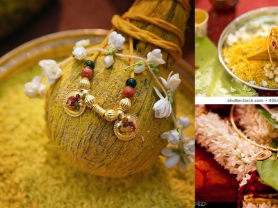 DIY || mangalsutra and coconut decoration for wedding