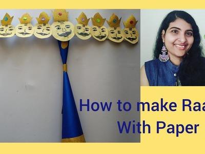 DIY Paper Ravana for Dussehra at home.Easy Ravana. Dussehra crafts