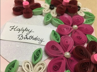 Easy Paper Quilled Card | Wall Art | Design#6