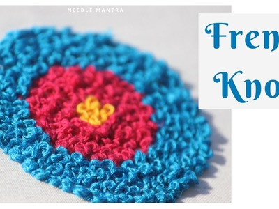 French Knots Embroidery | Basic Hand Embroidery #frenchknot