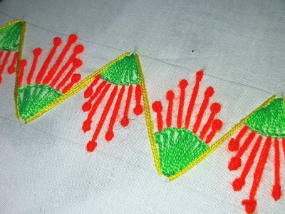 Hand embroidery : border design for nakshi katha.