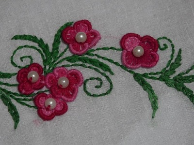 Hand Embroidery : Brazilian Embroidery : Flower Embroidery