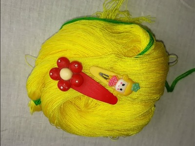 Hand embroidery Hair clip trick   New embroidery trick with hair clip