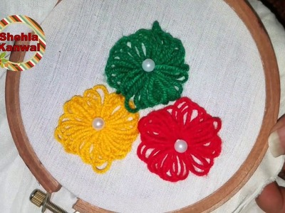 Hand Embroidery new Amazing.Trick Design : hand embroidery design