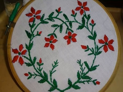 Hand Embroidery Satin and Stem Stitch by Amma Arts