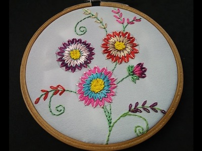 Hand Embroidery - Woven Oval Stitch