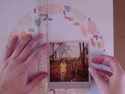 Happy Thoughts - Scrapbook Process Video - Stamping