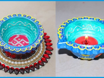 How to Decorate Diya for Diwali | Diya. Panti Decoration | DIY Diwali Decoration Ideas
