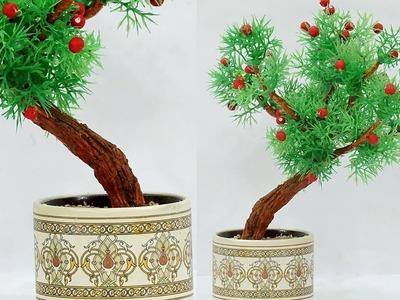 How to Make Clay Bonsai Tree | DIY Artificial Bonsai Tree | DIY Recycling Craft | StylEnrich