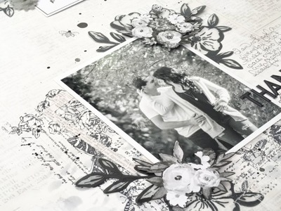 Just Black and White: 12x12 Scrapbooking