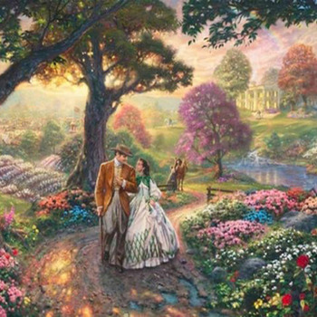 Kinkade Gone With The Wind Cross Stitch Pattern***LOOK***