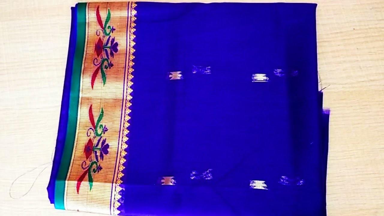 ebab1ae15f1d1 Paithani blouse back neck design cutting  .stitching easy patchwork blouse  design cutting  stitching