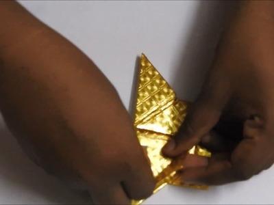 Paper art video - Golden Axe making activity |  Paper axe
