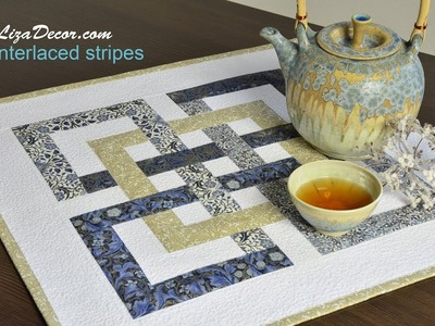Patchwork tutorial Interlaced Stripes - LizaDecor.com NEONE Ruler