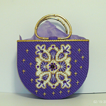 Purple and Gold Cross Tote bag/Handbag