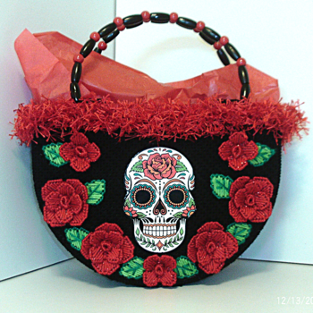Red and Black Day of the Dead Tote bag/Handbag