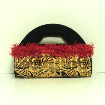 Red,Gold and Black Clutch/Purse