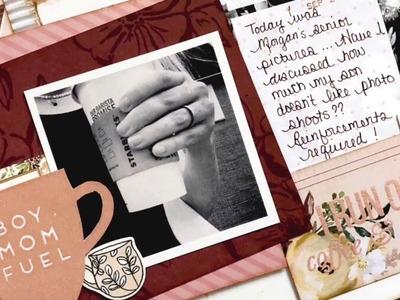Scrapbook Process- Boy Mom Fuel ( Boy Mom Layout #1) ( Clique Kit October Kit) (Ink Road Stamps)