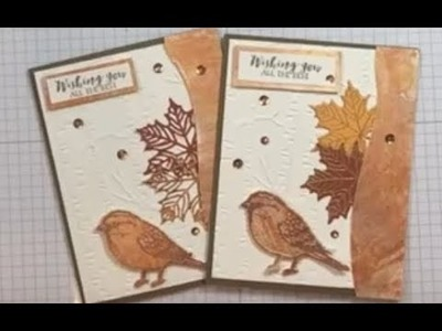 Shimmer Paper Technique Wishting You All the Best Card (Giveaway)