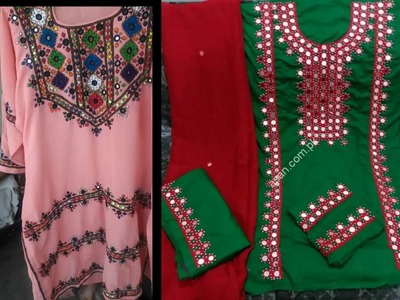 Sindhi traditional village style dresses Sindhi hand embroidery dresses. 2018