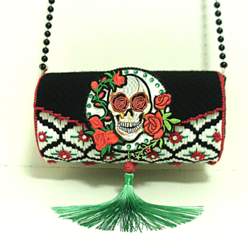 Skull and Roses Clutch/Purse