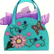 Turquoise Floral Handbag