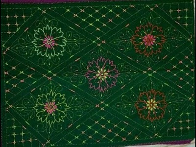 Very nice & easy Latest Hand Embroidery Nakshi Kantha Design,Bangladeshi traditional nakshi kantha