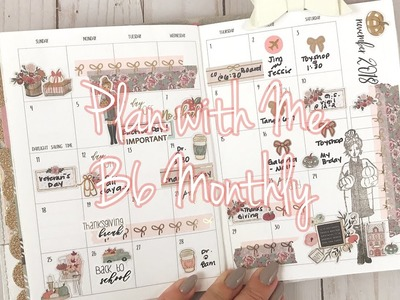 B6 Monthly Plan with Me. The Planner Society