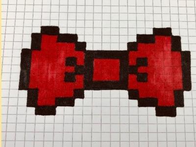 Draw Come Disegnare Un Fiocco Pixel Art How To Draw A Bow Come