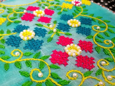 Cross Stitch Hand Embroidery design