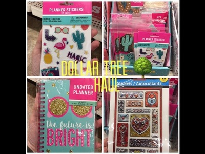 Dollar Tree NEW Planner, Planner Stickers & Metallic Stickers (great for cards)